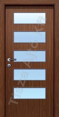 beltéri ajtó Debrecen cpl felülettel, üveges kialakítással, utólag szerelhető állítható tokkal