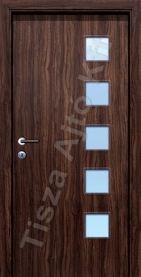 CPL beltéri ajtó Debrecen, üvegezett kivitelben, utólag szerelhető tokkal