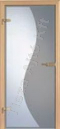 beltéri ajtó Debrecen, biztonsági üveggel ellátott ajtó lap, utólag szerelhető tokkal, speciális üveg ajtóhoz való vasalat rendszerrel