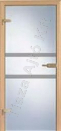 Edzett két csíkos üveges beltéri ajtó Debrecen Budapest
