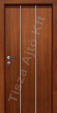 beltéri ajtó Debrecen, króm csíkos wenge felületű belső ajtó utólag szerelhető tokkal, gumis záródással