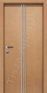beltéri ajtó Debrecen, króm csíkkal ellátott utólag szerelhető belső ajtó, küszöb nélküli kialakítással