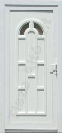 Fehér katedrálüveges műanyag bejárati ajtó Debrecen Budapest