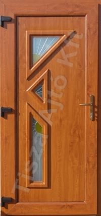 ajtó Debrecen, ötpontos biztonsági zárral, aranytölgy kivitelben, edzett hőszigetelt üveggel
