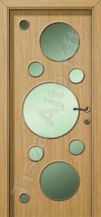 Ferrara tölgy üveges vákuumfóliás beltéri ajtó