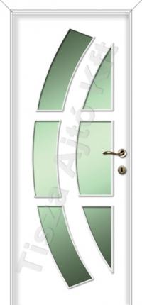 Festett 6 üveges fehér beltéri ajtó Debrecen