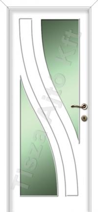 Festett üvegezhető fehér beltéri ajtó Debrecen