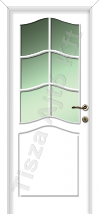 Festett üveges fehér beltéri ajtó
