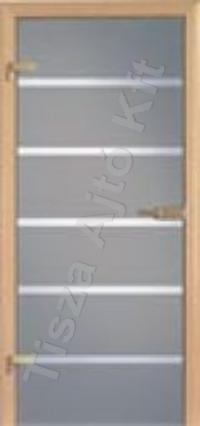 Edzett üveges csíkos beltéri ajtó