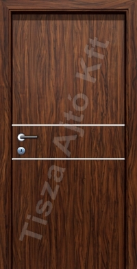 Venge króm csíkos beltéri ajtó