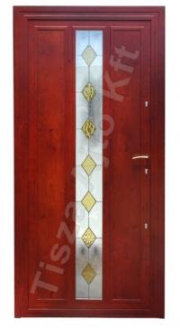 Acél edzett üveges biztonsági bejárati ajtó