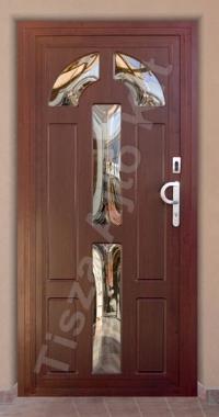 Acél edzett üveges biztonsági bejárati ajtó Debrecen