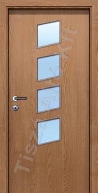 üvegezett furnér beltéri ajtó