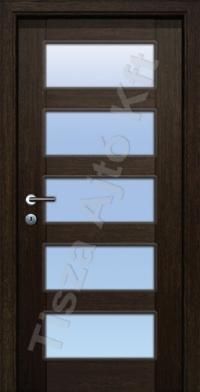 vázkeretes üvegezett furnér beltéri ajtók