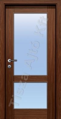vázkeretes üvegezett furnéros beltéri ajtó