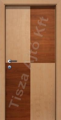 kétszínű intarziás furnéros beltéri ajtó