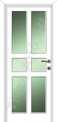 fehér festett beltéri ajtó