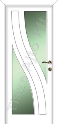 Festett mdf ajtó 48-as mintával fehér színben