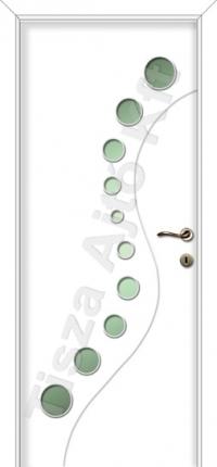 Festett mdf ajtó 103-as mintával fehér színben