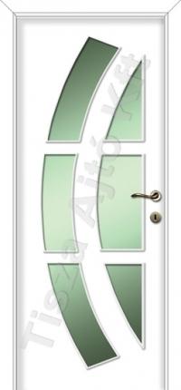 Festett mdf ajtó 31-es mintával fehér színben
