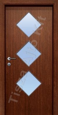 D standard üveges dekor beltéri ajtó