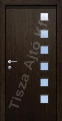 H standard üveges dekor beltéri ajtó