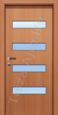 A4 SZ üveges dekor beltéri ajtó
