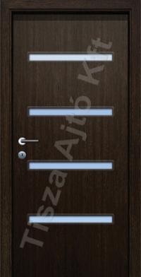 A4 V üveges dekor beltéri ajtó