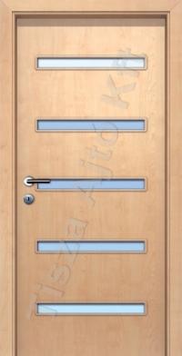 A5 V üveges dekor beltéri ajtó