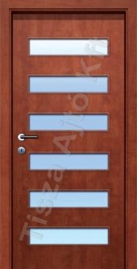 A6 SZ üveges dekor beltéri ajtó