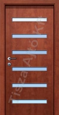 A6 V üveges dekor beltéri ajtó