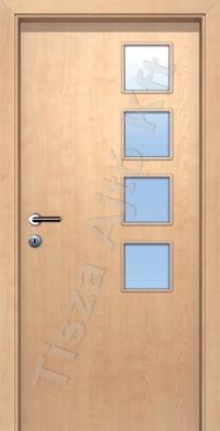 Ü6 üveges dekor beltéri ajtó