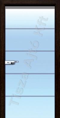 T08 edzett üveges beltéri ajtó