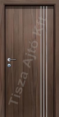 F08V krómcsíkos beltéri ajtó