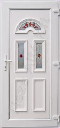 Temze 3 üveges piros ajtó