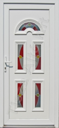 Temze 5 üveges pirosas ajtó