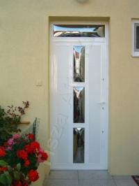 19-es fehér felülvilágítós ajtó