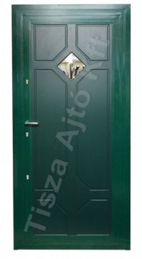 58-as ajtó festett zöld