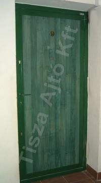 79-es ajtó zöld dekor felület, Budapest