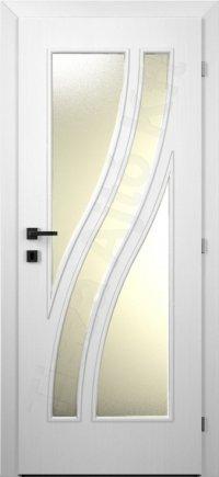fehér beltéri üvegezett ajtó