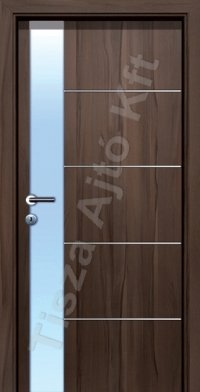 Edzett savmart üveges ajtó