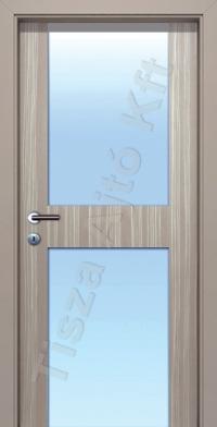 L07 edzett üveges CPL belső ajtó
